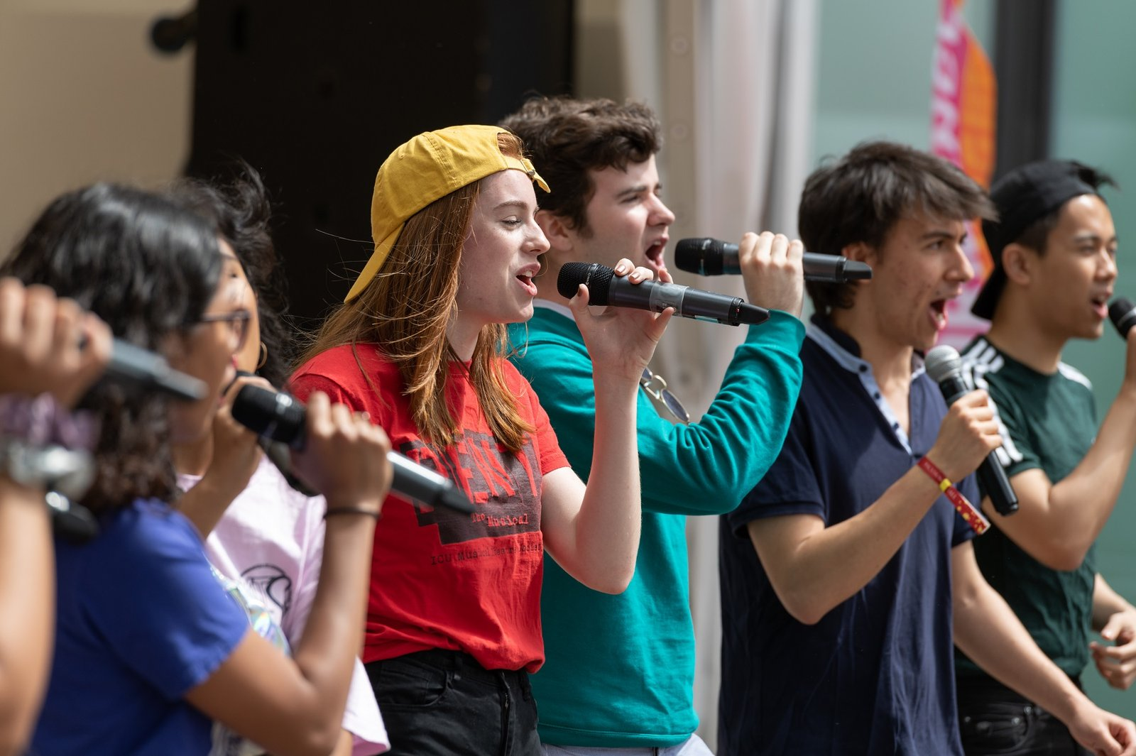 Singers performing at the Festival